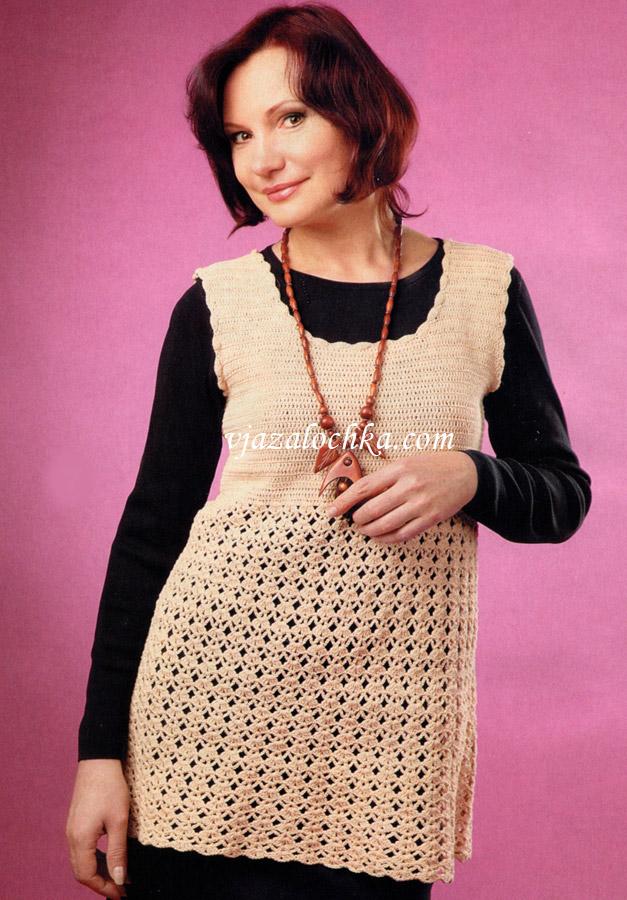 Для увеличения схемы вязания платья