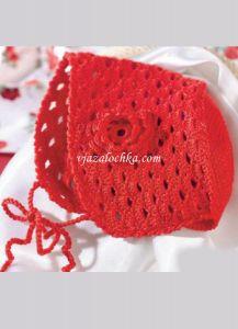 Вязание для новорожденной крючком. Шапочка
