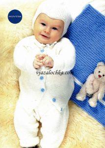 Вязание для малышей спицами. Комплект
