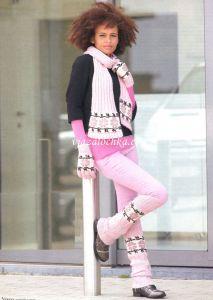 Гетры перчатки шарф (вязание спицами)