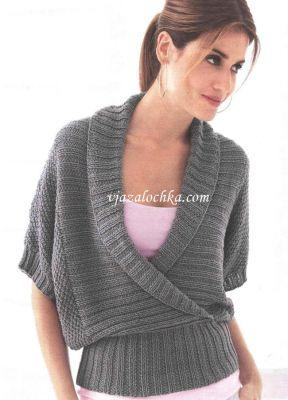 Пуловер с воротником шалька