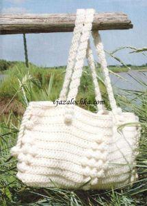Модная сумка вязаная крючком