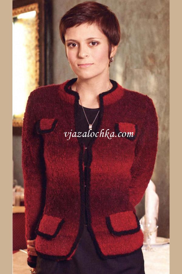 Красный жакет в стиле Шанель