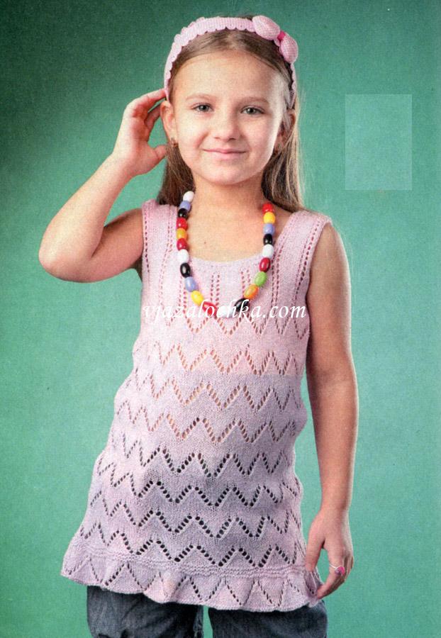 Вязание для девочек туника