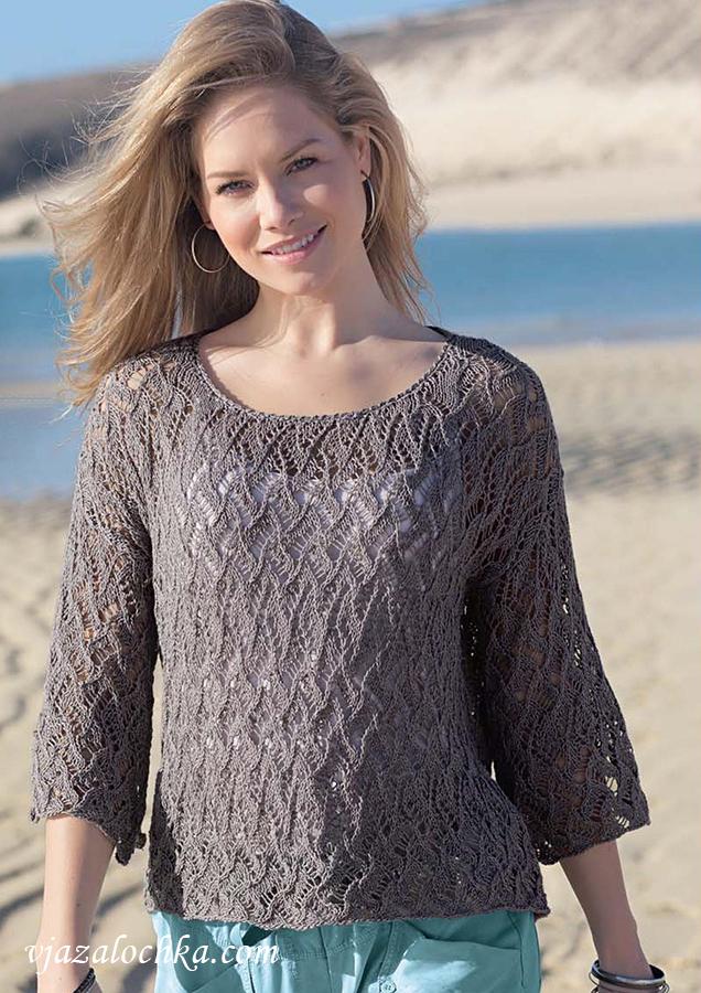 Ажурный пуловер