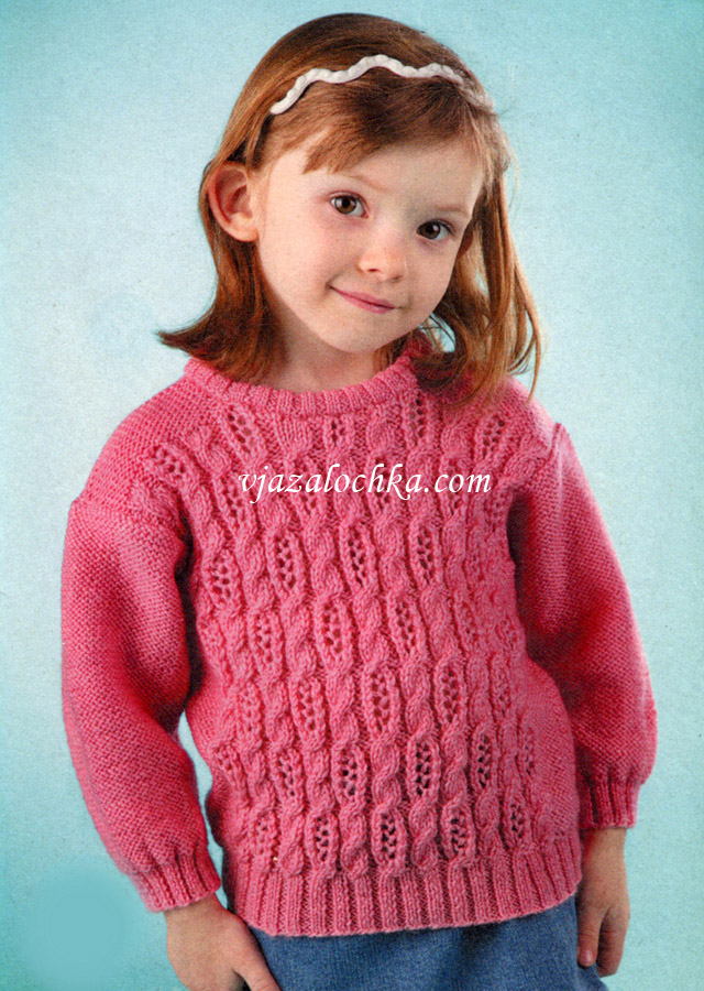 вязание свитер для девочки