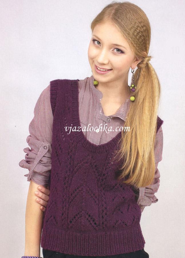 Пуловеры, свитера Вязание спицами, крючком 42