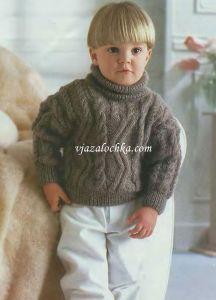 ребенка на лет свитер вяжем 3