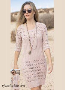 вязаные платья и туники спицами
